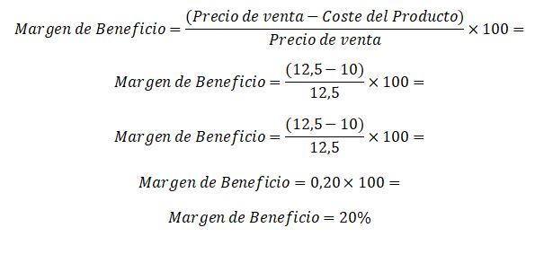 calcular el margen de beneficio